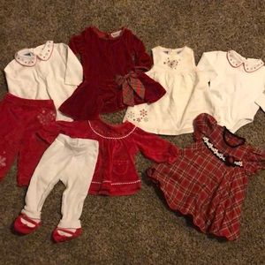 6-9 month Girls Holiday Lot